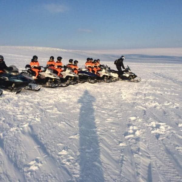 snowmobile tour gullfoss