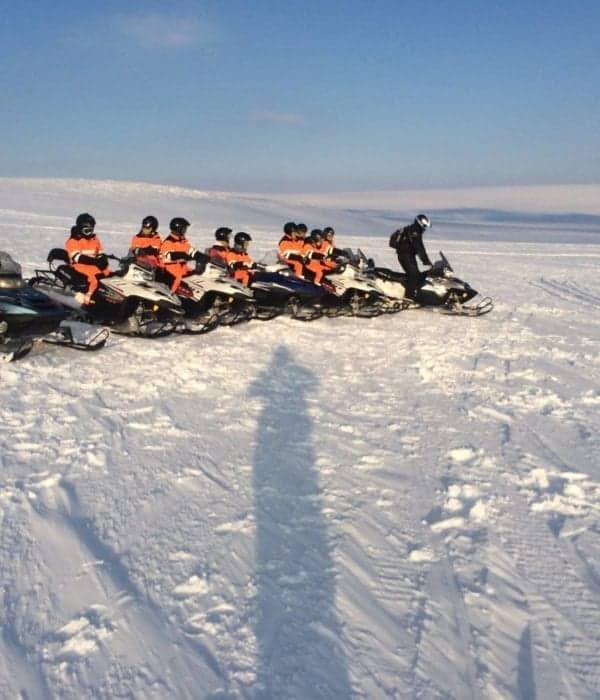 snowmobile tour gullfoss