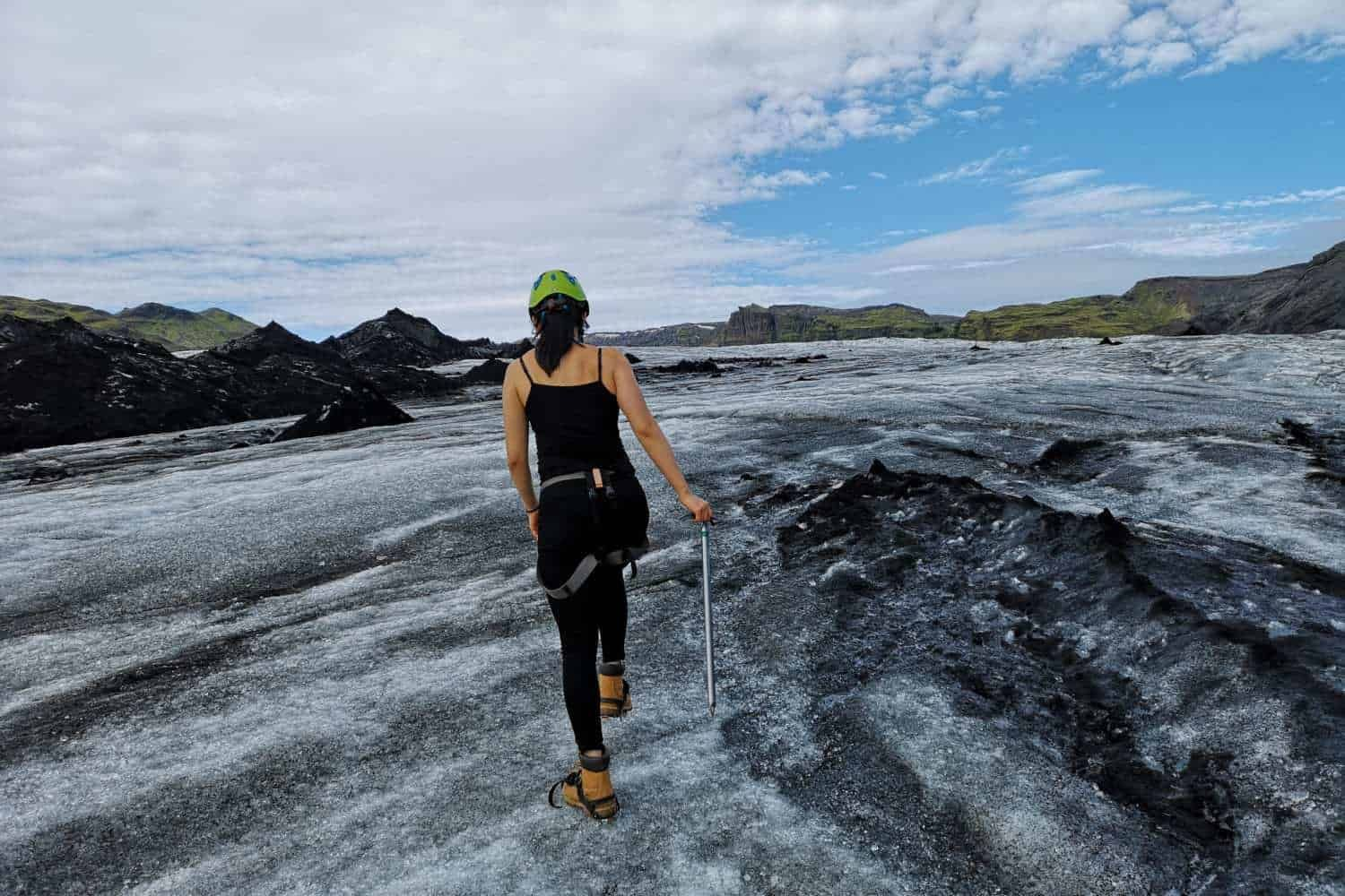 glacier tour in iceland and black sand beach of iceland