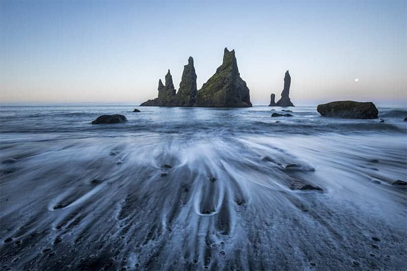 black sand beach south coast iceland