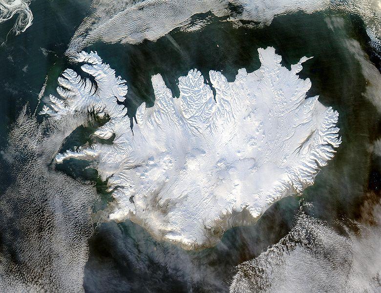 iceland satelite