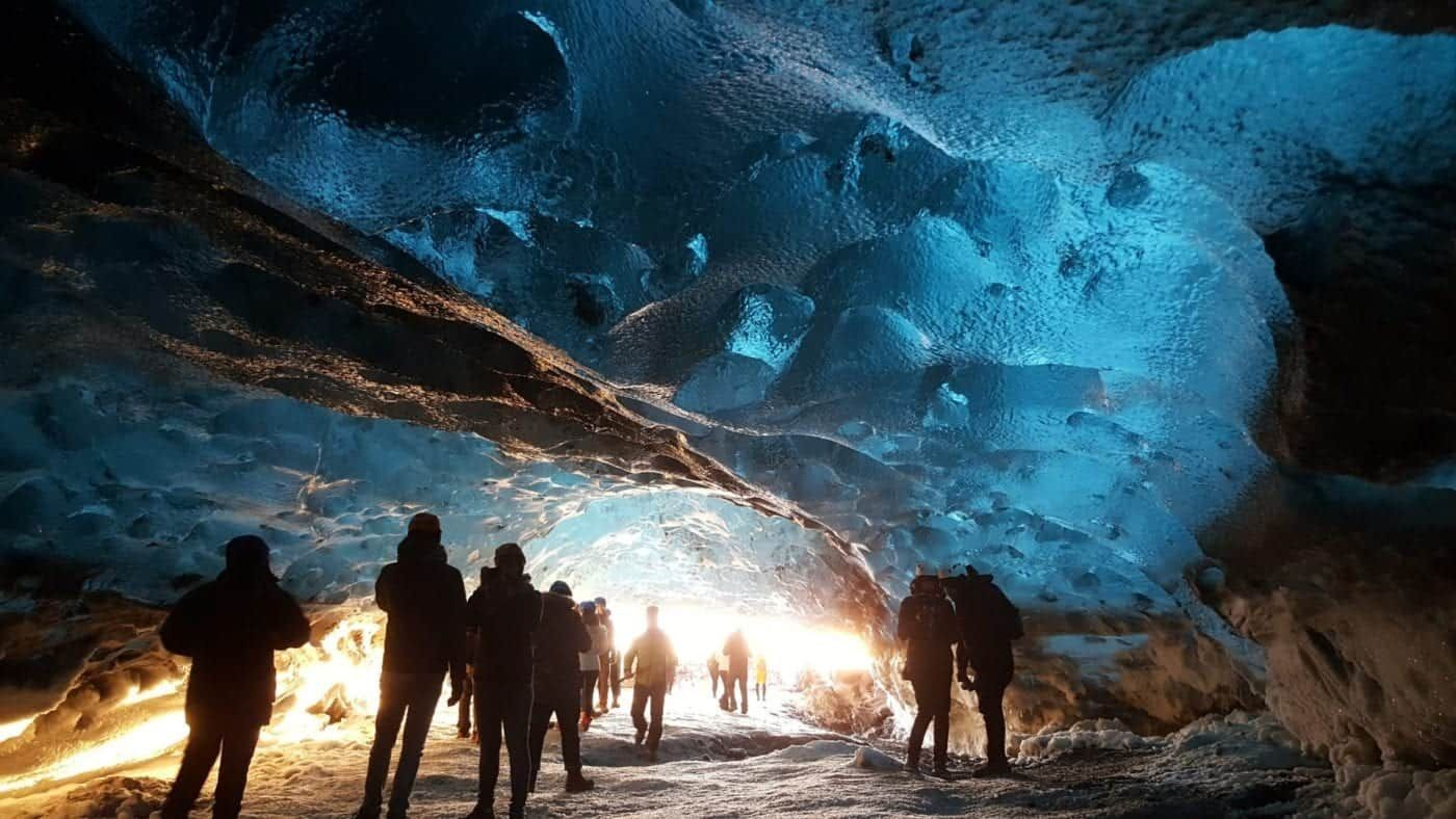 crystal ice cave tour iceland glacier