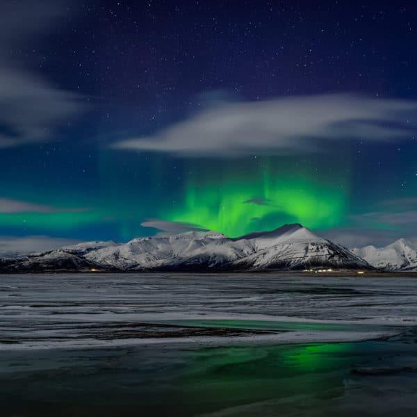 secret lagoon and northern lights iceland