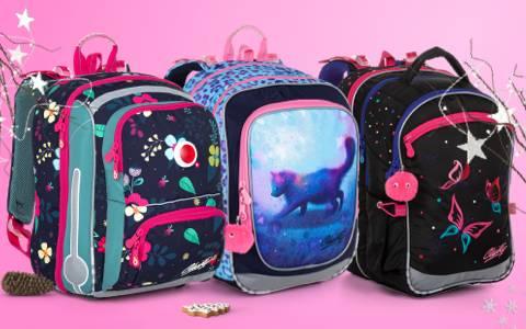 Školní aktovky a batohy pro holky do 1. třídy