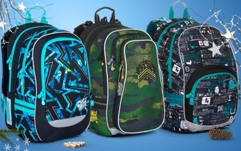 Školní batohy pro kluky do 2. a 3. třídy