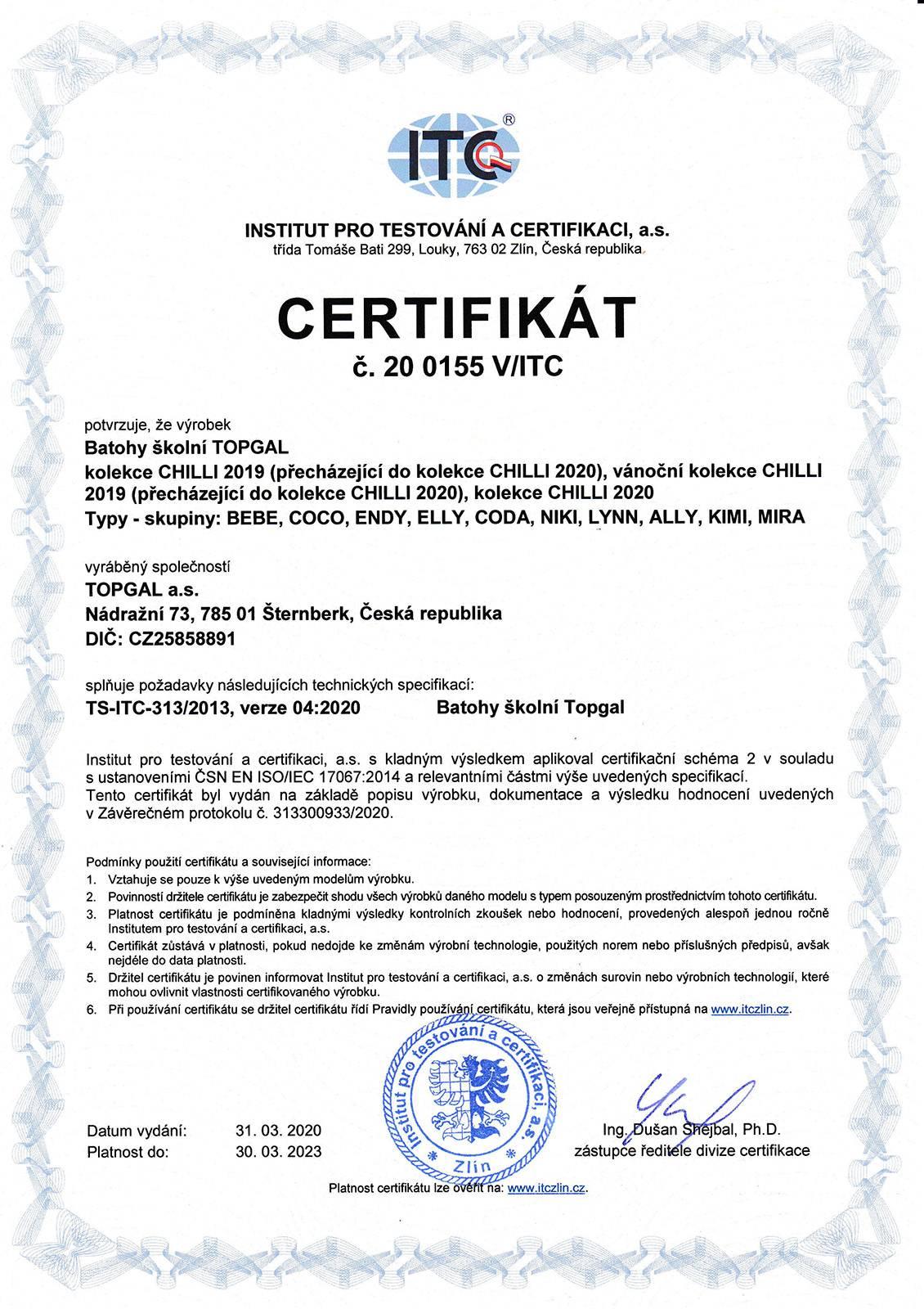 Certifikované školní batohy - strana 04