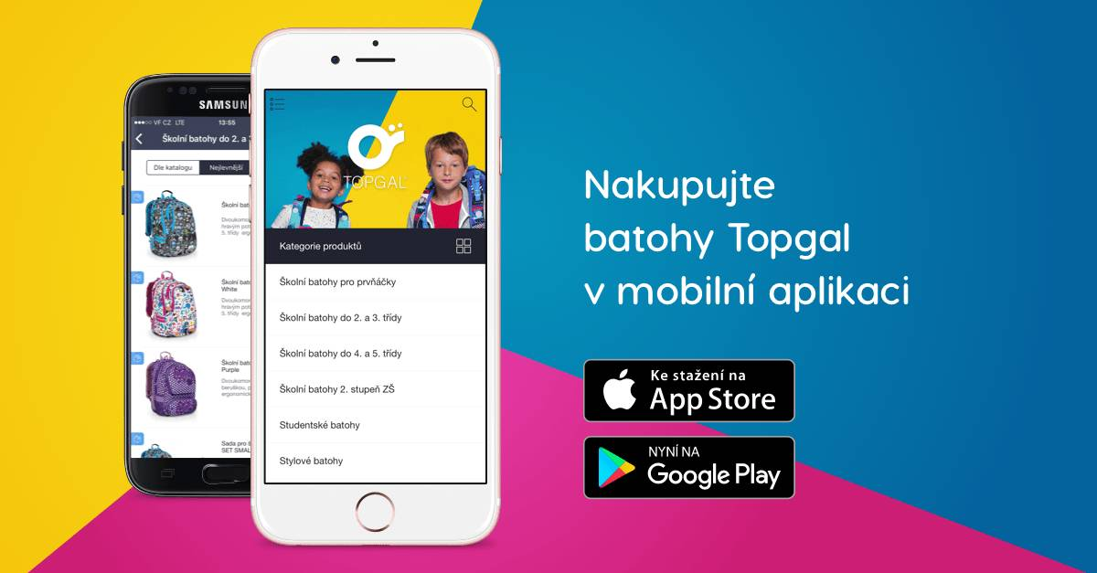 mobilní aplikace Topgal