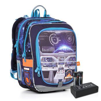 Svítící školní batoh ENDY 20006 BATTERY AA