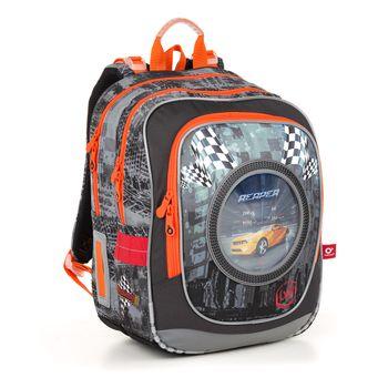 Dwukomorowy plecak z papugą i przywieszką ENDY 21002