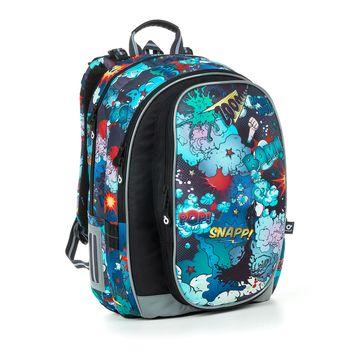 Kostkovaný školní batoh MIRA 20018