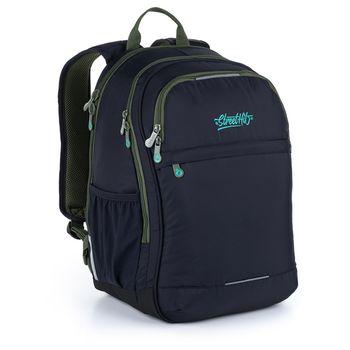 Černý batoh s potiskem RUBI 21027