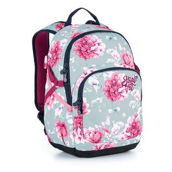 Studentský batoh s květinami YOKO 21030