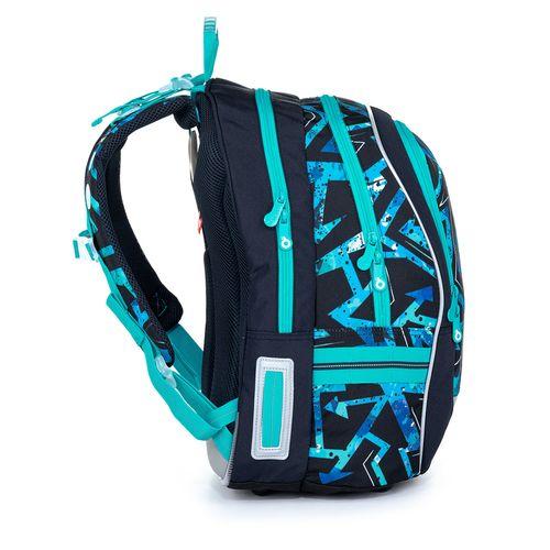 Školní batoh modrý s černým vzorem CODA 21020