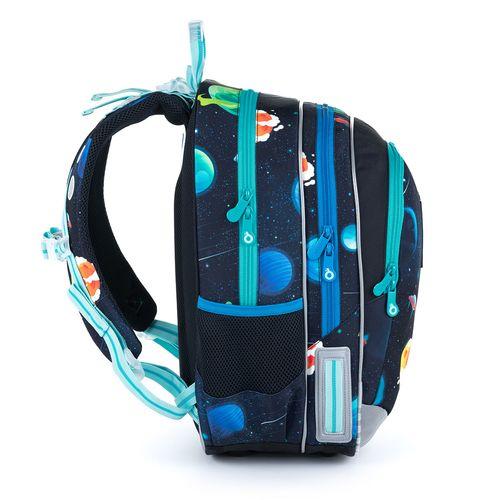 Školská taška s raketou a vesmírom na prvý stupeň ELLY 21015