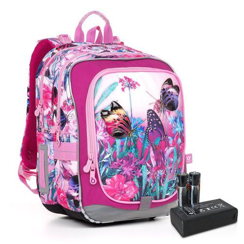 Svietiaca školská taška ENDY 17004 BATTERY AA