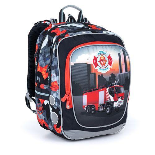 Ultralehký školní batoh s hasičským autem ENDY 21013