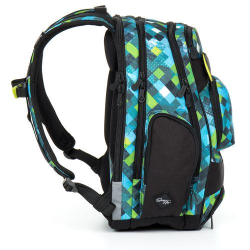 Studentský batoh kostkovaný HIT 869