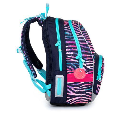 Dívčí školní batoh zebra KIMI 21010