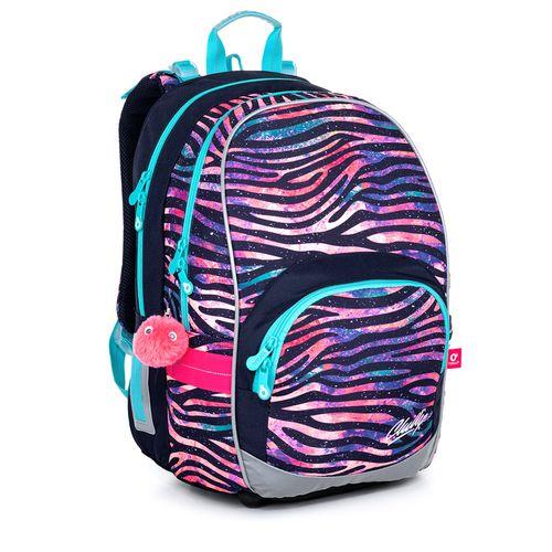 Dziewczęcy plecak w paski zebra KIMI 21010