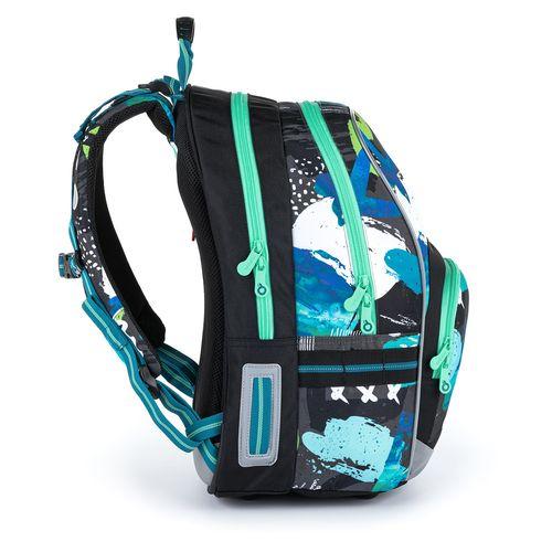Dvoukomorový batoh s barevnými vzory KIMI 21021
