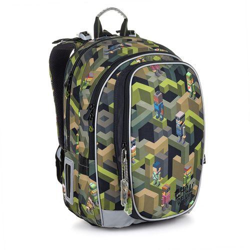 Školská taška vojenská inšpirovaná motívom Minecraft MIRA 20046