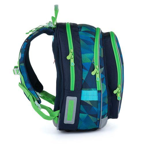 Modrozelený školní batoh MIRA 21019