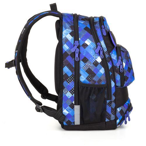 Kostkovaný studentský batoh YUMI 18036