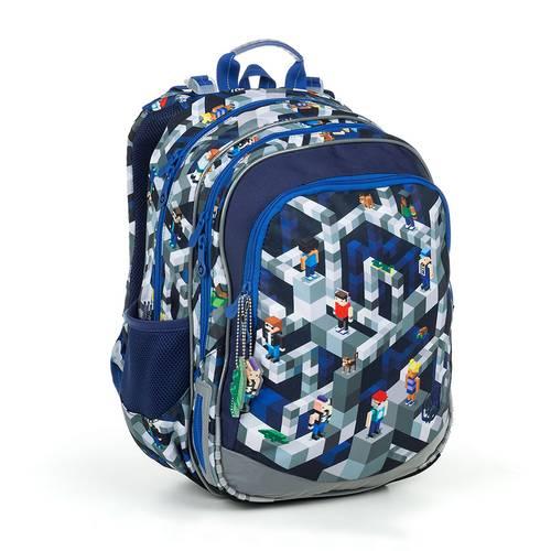 Školská taška inšpirovaná motívom Minecraft ELLY 19014