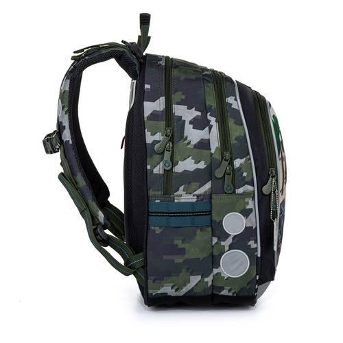 Školská taška vojenská inšpirovaná motívom Minecraft ENDY 21016