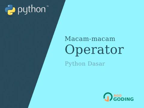 Python Dasar: Operator 🐍