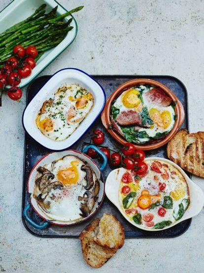 Baked Eggs Lots Of Ways Egg Recipes Jamie Oliver