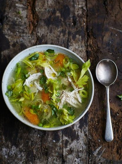 Chicken Amp Vegetable Soup Chicken Recipes Jamie Oliver Recipes