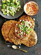 Quick flatbreads with avocado & feta