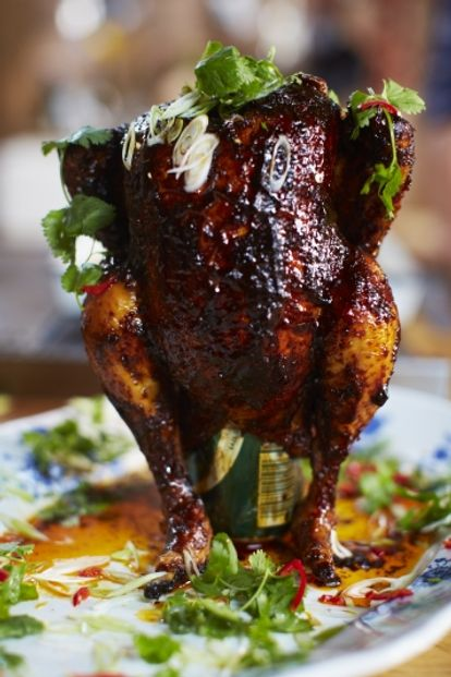 Sweet Amp Spicy Beer Can Chicken Jamie Oliver