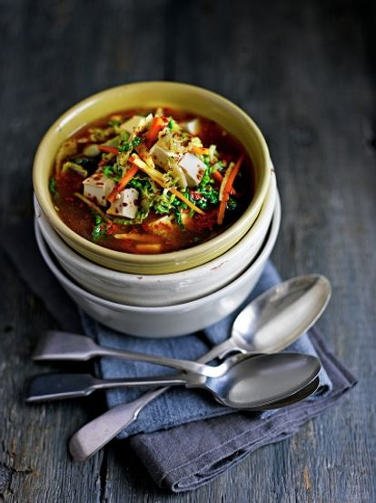 Miso Soup With Tofu Amp Cabbage Vegetables Recipes Jamie Magazine