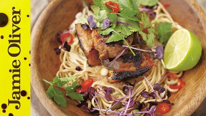 Crispy Pork with Noodles – Jamie at Home