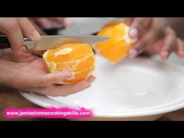 How to prepare an orange – Jamie Oliver's Home Cooking Skills