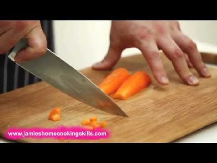 Chopping a carrot – Jamie Oliver's Home Cooking Skills