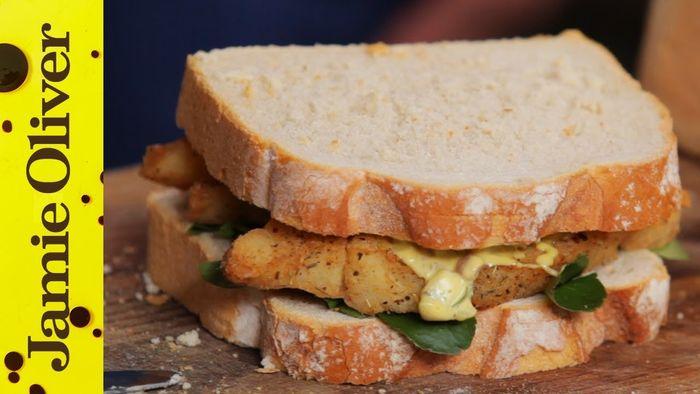 Southern Fried Fish Finger Sandwich