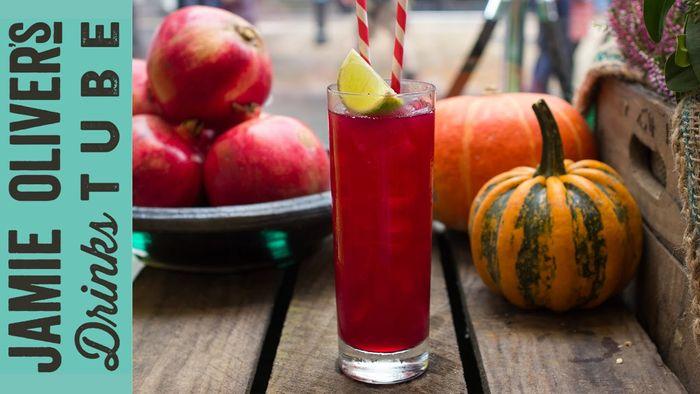 Spooky Spiced Scarlet Cocktail
