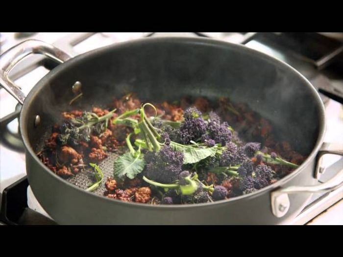 Quick Sausage Gnocchi with Warm Winter Salad