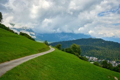 A footpath in mountains, Swiss Apls