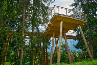 Wooden structure in Swiss Alps