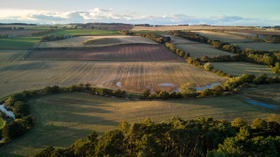 Scottish landscape from air