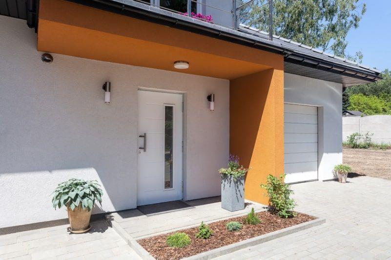 aluminium contemporary entrance door