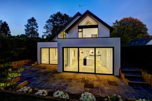 aluminium sliding glass doors on a luxury residential home