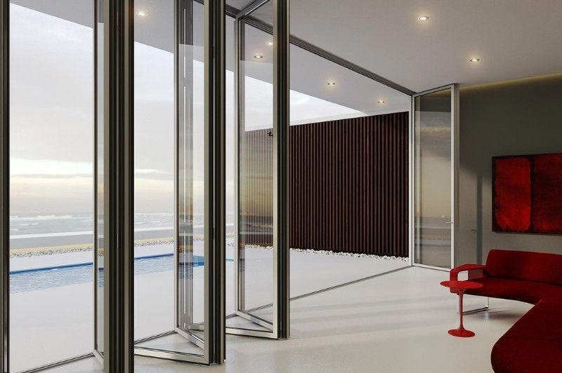 aluminium super lux bifold door tallest slim bifold door