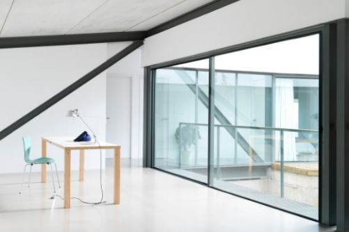 oversized glass sliding aluminium doors
