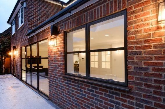 sieger legacy steel look aluminium window with glazing bars