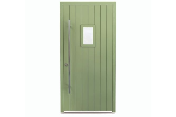 rural style aluminium framed entrance door